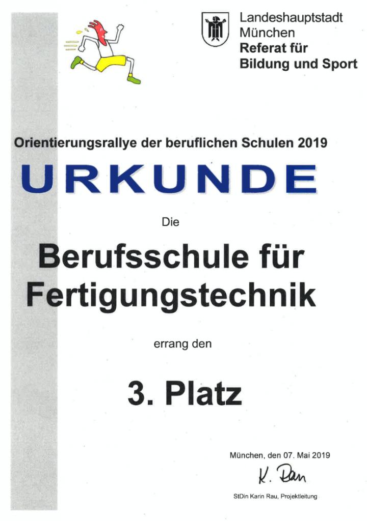 Orientierungsrallye der Beruflichen Schulen 2019 - Berufsschule für Fertigungstechnik München
